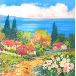 "Pocket bookmark by Beniamino Ajroldi ""Spring on Lake Garda"""