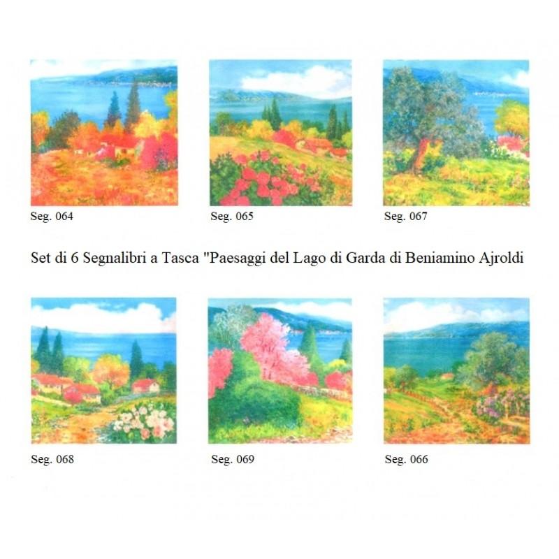 """Set of 6 Pocket Bookmarks by Beniamino Ajroldi """"Landscapes of Lake Garda"""""""