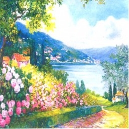 "Pocket bookmark by Beniamino Ajroldi ""Hydrangeas on Lake Garda"""