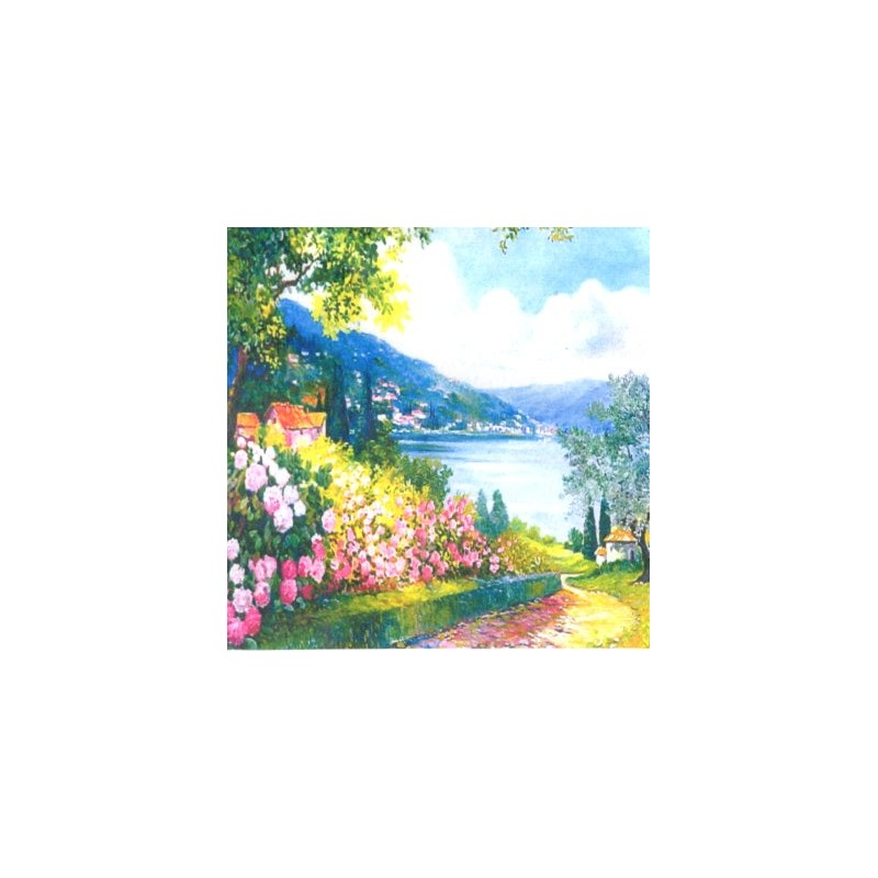 "Pocket bookmark by Beniamino Ajroldi ""Hydrangeas on Lake Garda"""
