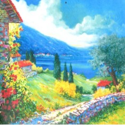 "Pocket bookmark by Beniamino Ajroldi ""Path on Lake Garda"""