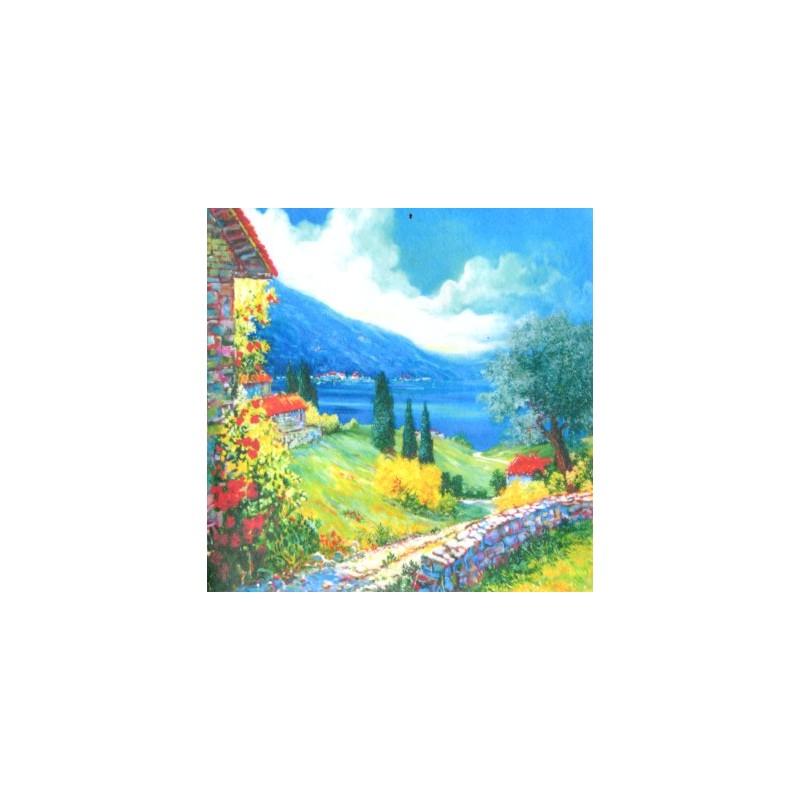"Pocket bookmark by Beniamino Ajroldi ""Path on Lake Garda"""