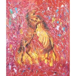 "Dipinto olio su tela di Annalisa Girlanda ""L'incontro"""