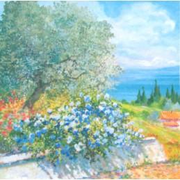 """Segnalibro a tasca di Beniamino Ajroldi  """"Primavera sul Lago di Garda"""""""