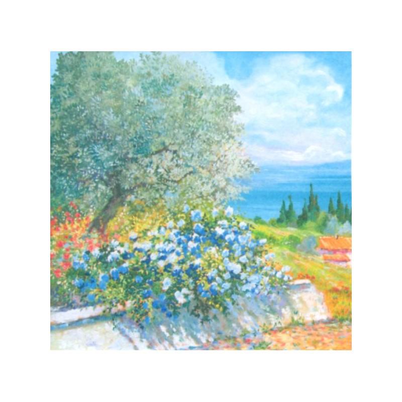 """Pocket bookmark by Beniamino Ajroldi """"Spring on Lake Garda"""""""