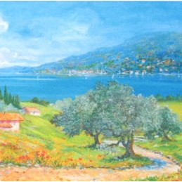 "Pocket bookmark by Beniamino Ajroldi ""Vision of Lake Garda"""