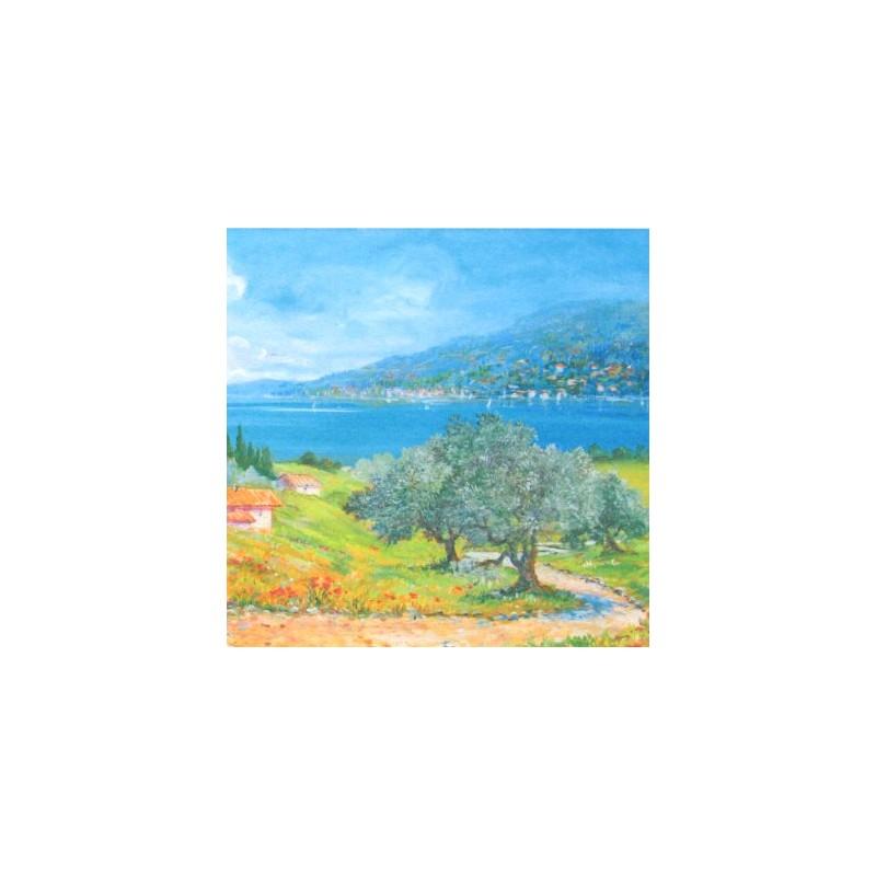"""Pocket bookmark by Beniamino Ajroldi """"Vision of Lake Garda"""""""