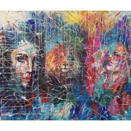 "Dipinto olio su tela di Annalisa Girlanda ""Leonesse"""