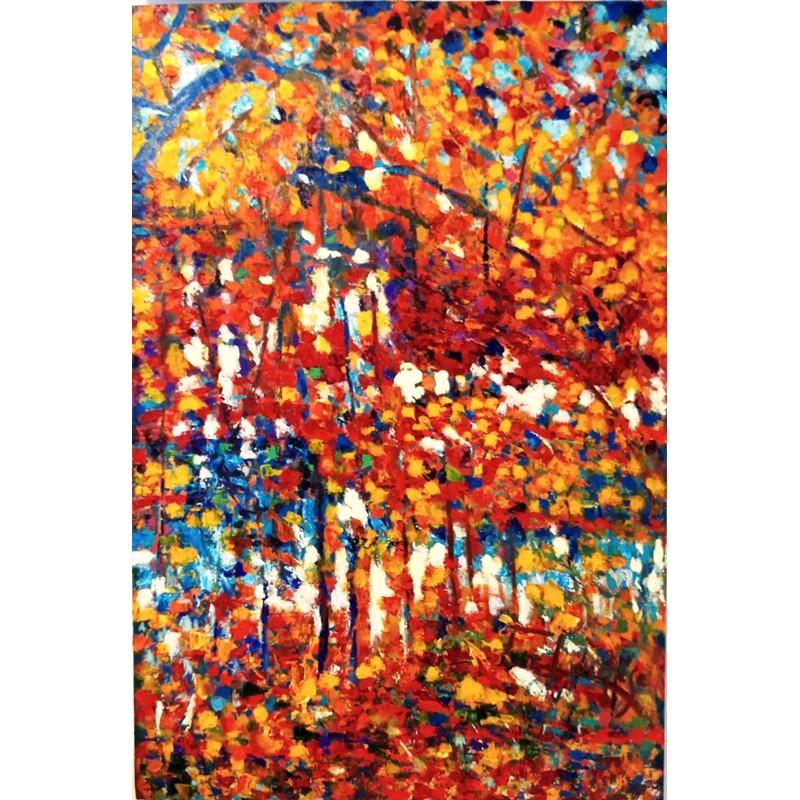 """Dipinto olio su tela """"Riflessi d'autunno"""""""