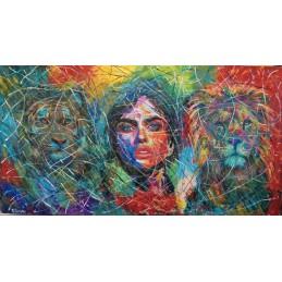 "Dipinto olio su tela di Annalisa Girlanda ""Guardie del corpo"""