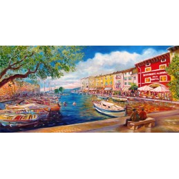"""""""View of the lakeside of Lazise"""""""